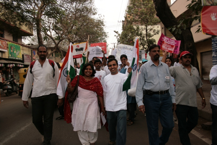 Organized the Anti-Corruption Dandi March 2 in Bangalore