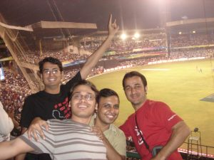 At the Chinnaswamy Stadium, Bangalore
