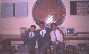 The 3 of us in school in 2001