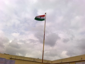 The Tricolor Flying High