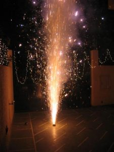 Fireworks during Diwali