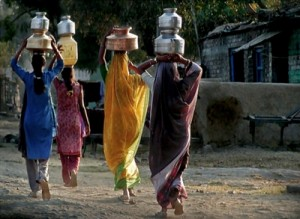 Women fetching water from kilometers away