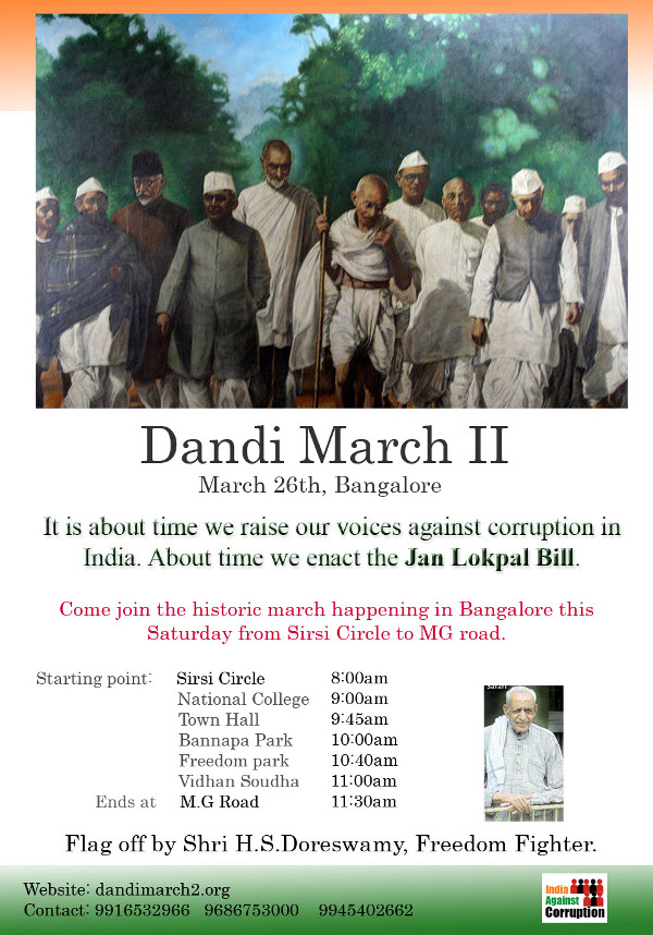 Dandi March II against corruption
