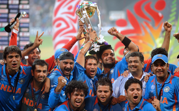 Indian team after the victory