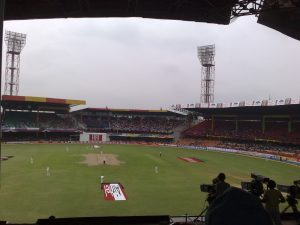 Watching a test match sitting in a jam-packed stadium was super fun