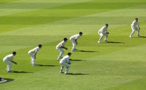 A sight only possible in Test Cricket