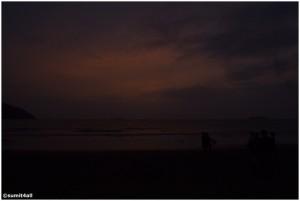The evening sky at Karwar