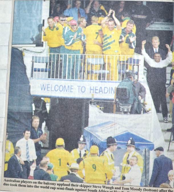 Australian team celebrating after the chokers choked