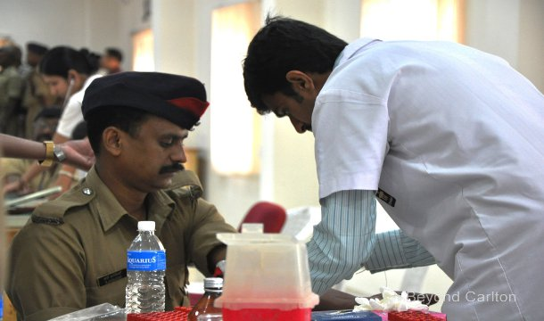 Beyond Carlton organized a free medical camp for firemen and their families at Manipal Hospital