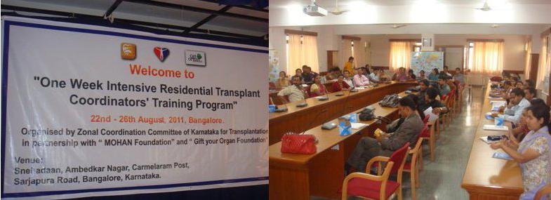 A week long transplant coordinators training program by Gift Your Organ