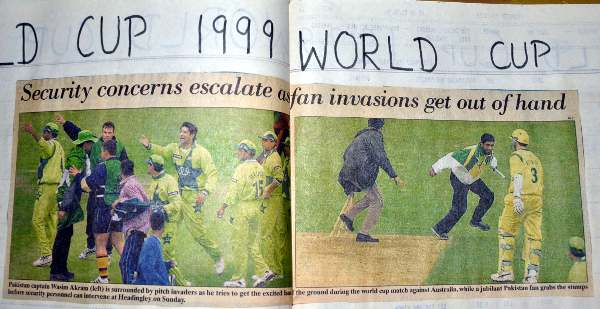Pitch Invasions during the 1999 World Cup