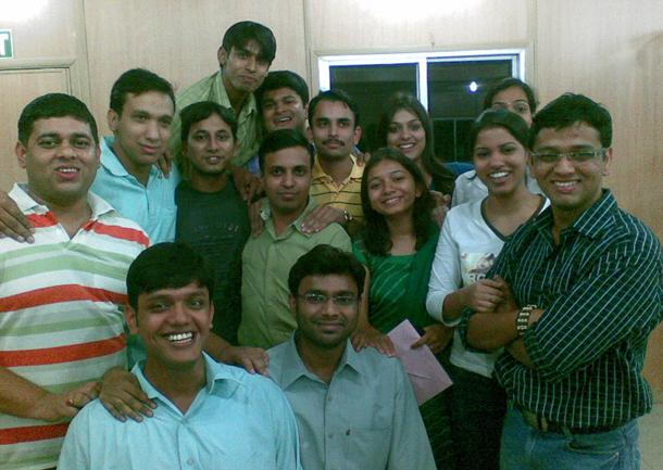 Myself and friends at Noida in 2008