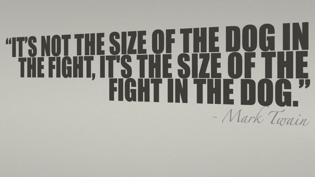 Mark Twain said it very rightly so