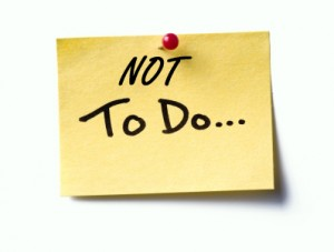 Do you have Not To-Do list in 2012?