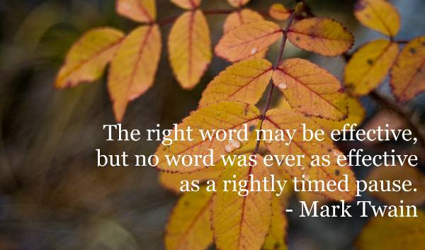Simple and powerful words by Mark Twain