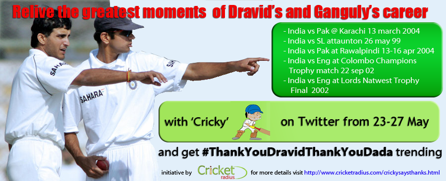 Relive 5 historic matches of Ganguly and Dravid on Twitter from 23-27 May