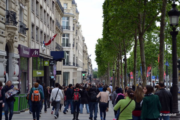 This is arguably the most famous shopping street in the world