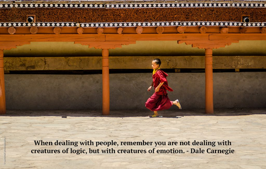 When dealing with people, remember you are not dealing with creatures of logic, but with creatures of emotion. - Dale Carnegie